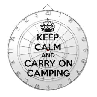 KEEP CALM AND CARRY ON CAMPING GIFT SELECTION NEW DARTBOARD