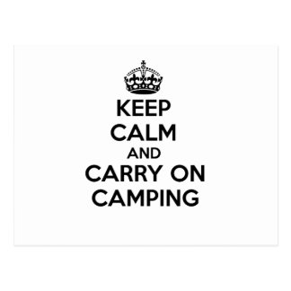 KEEP CALM AND CARRY ON CAMPING GIFT SELECTION NEW POSTCARD