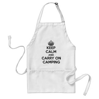 KEEP CALM AND CARRY ON CAMPING GIFT SELECTION NEW STANDARD APRON