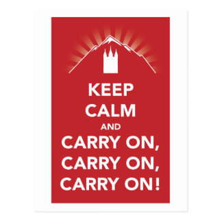 Keep calm and carry on, carry on, carry on! card