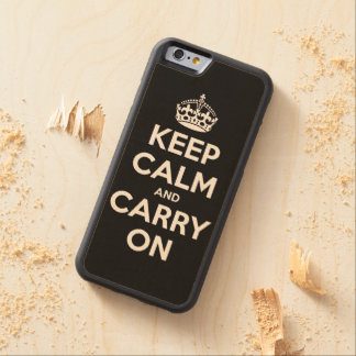Keep Calm and Carry On Carved® Maple iPhone 6 Bumper