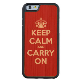 Keep Calm and Carry On Carved® Cherry iPhone 6 Bumper Case