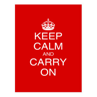 Keep Calm and Carry On classic British prints Postcard