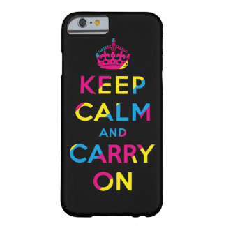 keep calm and carry on CMYK Barely There iPhone 6 Case