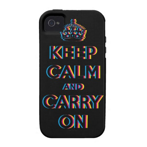 keep calm and carry on CMYK iPhone 4/4S Cases