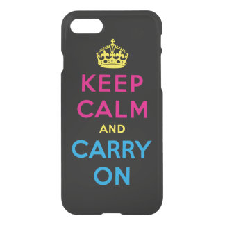 keep calm and carry on - CMYK iPhone 7 Case