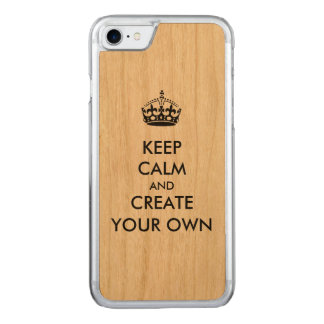 Keep Calm and Carry On Create Your Own | Black Carved iPhone 8/7 Case