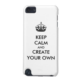 Keep Calm and Carry On Create Your Own | Black iPod Touch (5th Generation) Covers