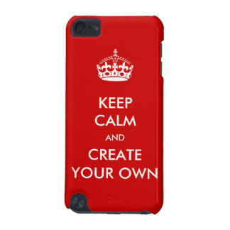 Keep Calm and Carry On Create Your Own | White Red iPod Touch (5th Generation) Covers