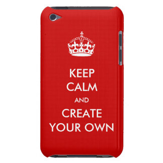 Keep Calm and Carry On Create Your Own | White Red iPod Case-Mate Cases