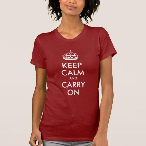 Keep Calm and Carry On Creator Shirts