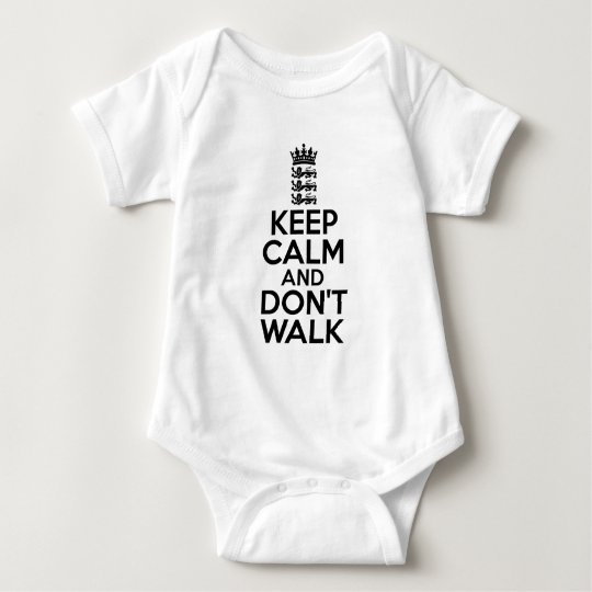 Keep calm and carry on cricket baby bodysuit