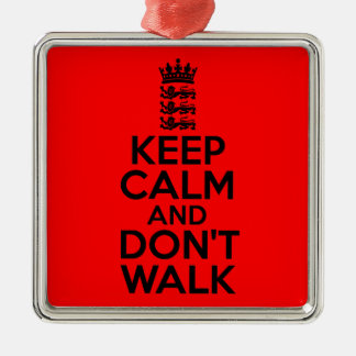 Keep calm and carry on cricket Silver-Colored square decoration