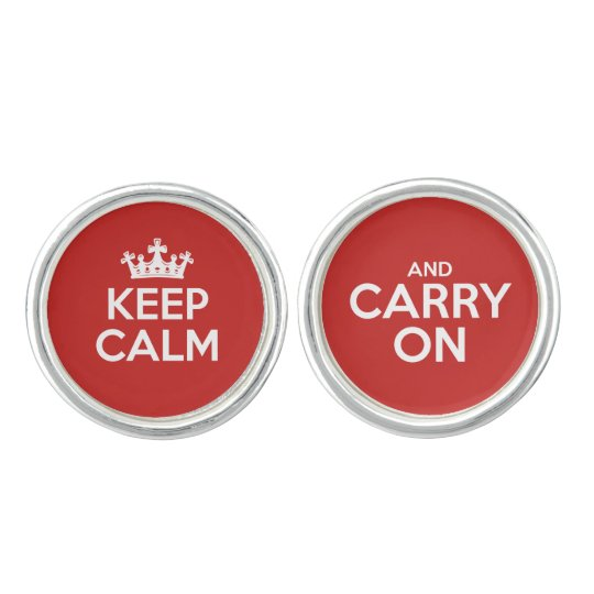 Keep Calm and Carry On Cuff Links