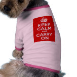 Keep Calm and Carry On Dog Shirt