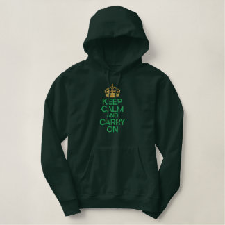 KEEP CALM AND CARRY ON embroidered APPAREL Embroidered Pullover Hoodie