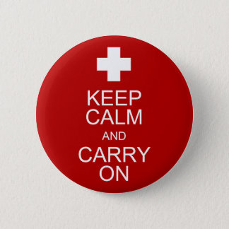 Keep Calm and Carry On - First Aid 6 Cm Round Badge