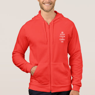 Keep Calm and Carry On Flex Fleece Zip Hoodie