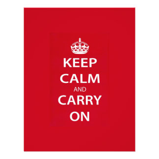 Keep Calm and Carry On 21.5 Cm X 28 Cm Flyer