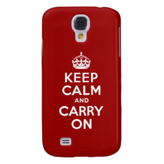 Keep Calm and Carry On Galaxy S4 Case