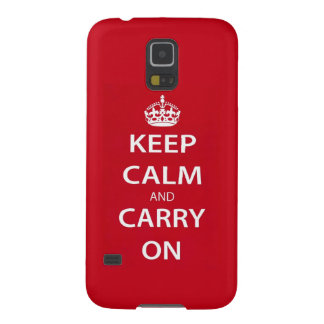 Keep Calm and Carry On Galaxy S5 Covers