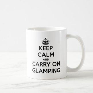 Keep calm and carry on glampling basic white mug