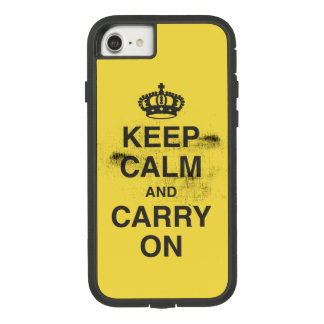KEEP CALM AND CARRY ON GRUNGY YELLOW Case-Mate TOUGH EXTREME iPhone 8/7 CASE