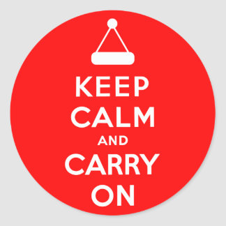 Keep Calm and Carry On Holidays Classic Round Sticker
