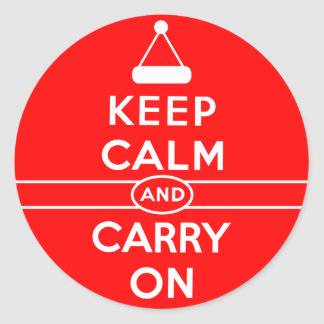 Keep Calm and Carry On Holidays Round Sticker