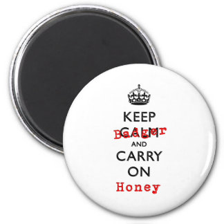 Keep Calm and Carry On Honey Badger 6 Cm Round Magnet