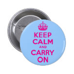 Keep Calm And Carry On Hot Pink. Best Price!