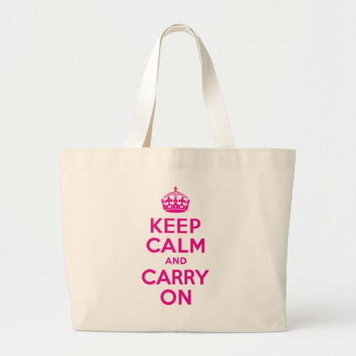 Keep Calm And Carry On Hot Pink Best Price Bag
