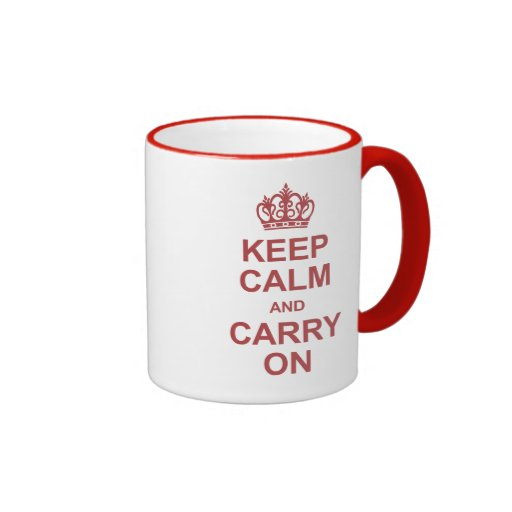 Keep calm and carry on - hot pink coffee mugs