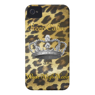 Keep Calm and Carry On in High Heels iPhone 4 Case-Mate Cases