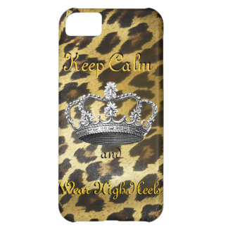 Keep Calm and Carry On in High Heels iPhone 5C Cover