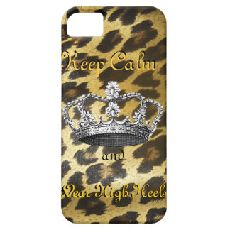 Keep Calm and Carry On in High Heels iPhone 5 Cases
