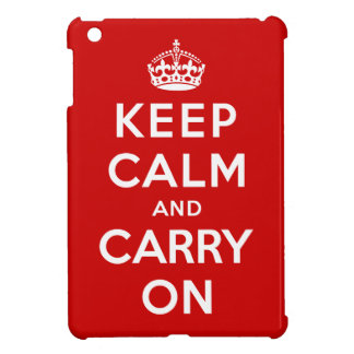 Keep Calm and Carry On iPad Mini Case