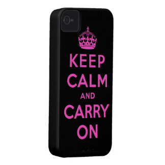 keep calm and carry on iPhone 4 Case-Mate case