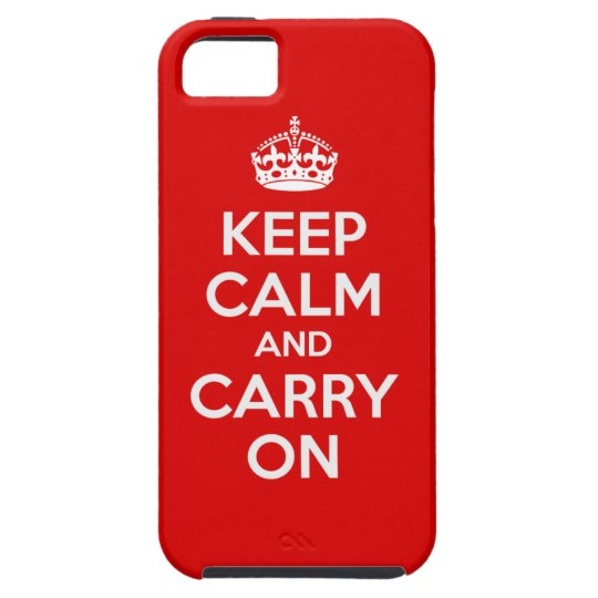 Keep Calm and Carry On iPhone 5 Case Cover