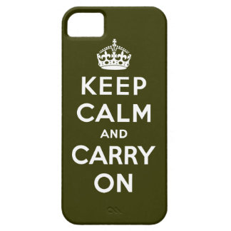 Keep Calm And Carry On iPhone 5 Covers