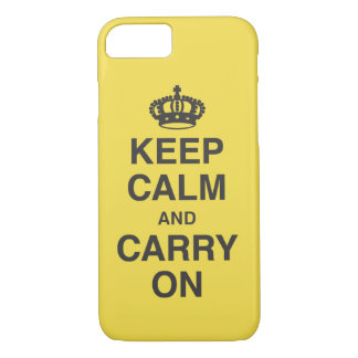 KEEP CALM AND CARRY ON iPhone 8/7 CASE