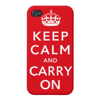 Keep Calm and Carry On iPhone 4 Cases