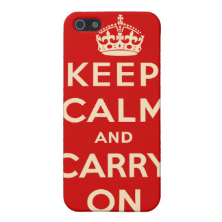 Keep Calm and Carry On iPhone Case iPhone 5/5S Case
