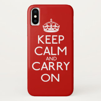 Keep Calm And Carry On iPhone X Case