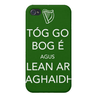 Keep Calm and Carry On IRISH iPhone 4/4S Cases