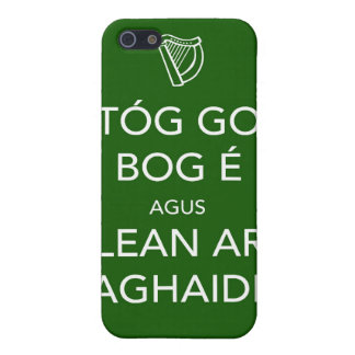 Keep Calm and Carry On IRISH iPhone 5 Cover
