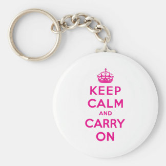 Keep Calm And Carry On Key Chains