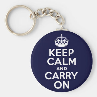 Keep Calm And Carry On Key Ring