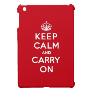 Keep Calm and Carry On London Red iPad Mini Cases