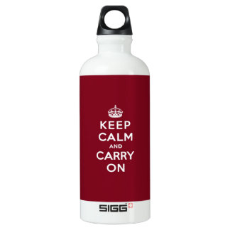 Keep Calm and Carry On Madder Lake SIGG Traveller 0.6L Water Bottle